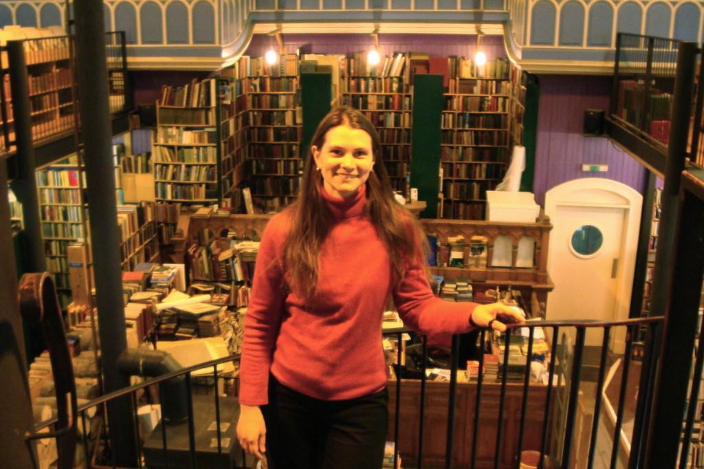 Leakeys bookshop selfie 2011